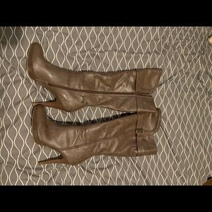 Style &Co knee high tan boots size 7